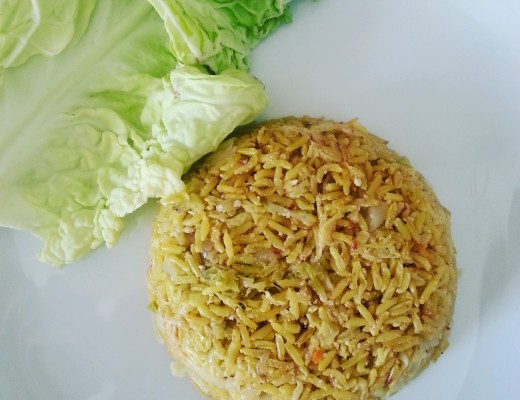 riso al curry piatto