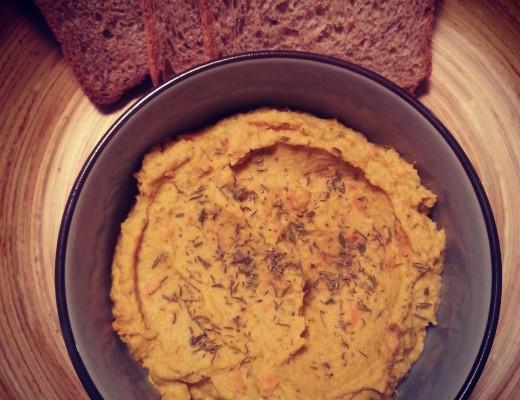 hummus di carote e timo