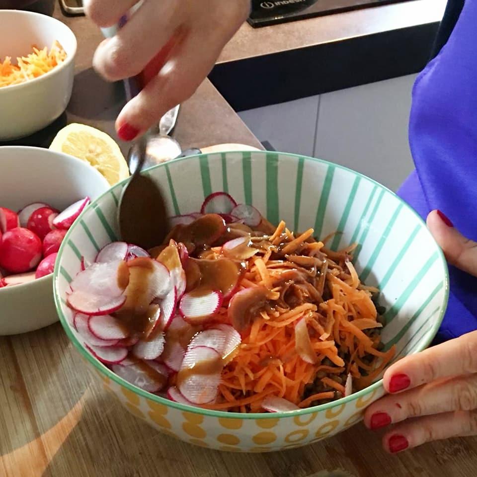 dimagrire insalata ravanelli lenticchie
